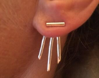3 Line Earring Jackets