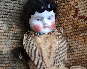 Sadly Her Legs & Arms Are Missing In Action Antique China Doll