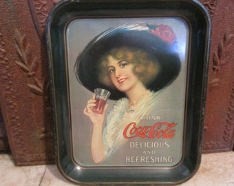 Vintage 'Coca Cola' Hamilton King' Pin-up Girl' serving tray!