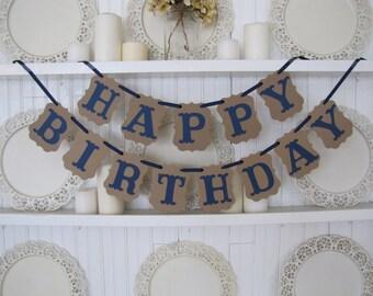 HAPPY BIRTHDAY Banner, Birthday Party Sign, Boy Birthday, Teenage Boy Birthday, Happy Birthday Sign, Baby's First Birthday