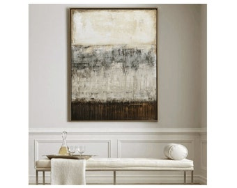 abstract art creme brown  painting textured  abstract painting,  wall art from jolina anthony signet  express shipping