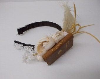 Miniature Book Headband: Ivory
