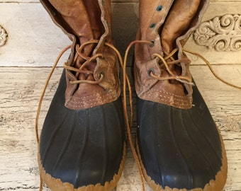 Vintage LL Bean Boots - Men's Size 11 M - Rugged, Broken in - Bean Duck Boots