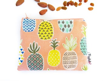 Zippered Snack Bag with Food-Safe Nylon Lining - Pineapple