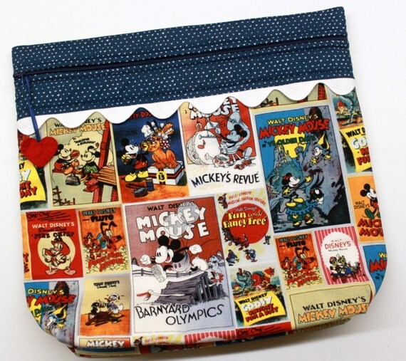 MORE2LUV Mickey & Friends Vintage Posters Cross Stitch Embroidery Project Bag