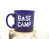 Camping Mug - Base Camp - Speckled Color Mug - Campfire Collection