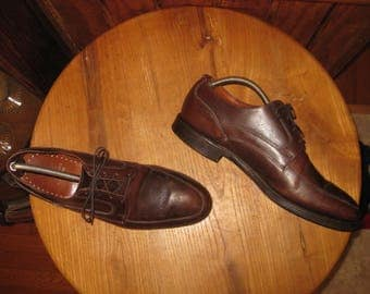 BROOKS  BROTHERS    Algonquin  Lace Up   Brown Leather Shoes   Mens  10 1/2  D   Made In USA