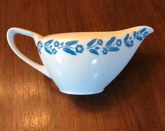 Vintage Symphony in Blue China Serving Gravy Boat Creamer Syrup Dispenser Made in Japan 1960s