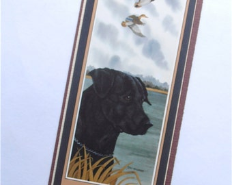 Vintage Black Labrador Bookmark Dianne Higgason Artist Print Fine Art Quality Artworks Animal Nature Landscape Beach Water Clouds