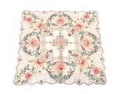 Vintage appenzell or madiera hand embroidery hankie handkerchief, bride or bridesmaid stunning details