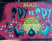 1986  Mad Magazine Board Game.  Mad's Spy vs Spy.  Milton Bradley.  Y-070