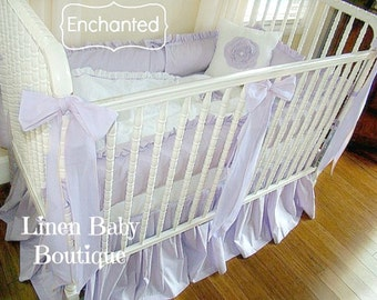 Lavender Baby Bedding 3 or 5 Pieces. Crib Bedding. Enchanted!
