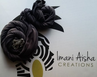 Charcoal Grey Headwrap