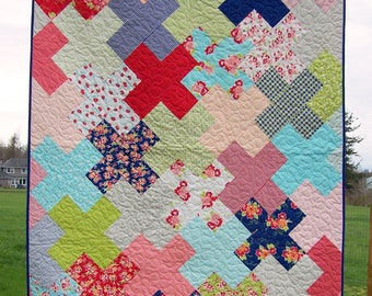 Ready to Ship, Love Multiplied, Miss Kate X Plus Quilt, Modern Quilt, Lap Quilt, Quilts For Sale, Blanket, Custom Quilt, Busy Hands Quilts