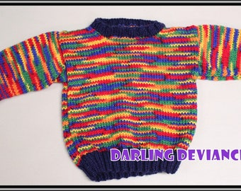 Bright Colours Toddler Sweater - 18-24 month