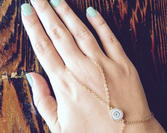 Natural stone hand chain