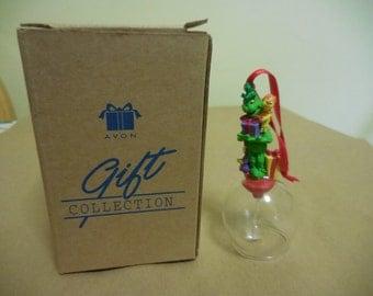Vintage 1998 Avon Dr. Seuss Enterprises 1990s Christmas Tree Ornament Grinch/Dog Cartoon Plastic/Glass Bell Collectible NIB Jim Henson Prod
