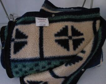 Beauty BIEDERLACK Blanket Wearable USA Blue Green Bone SW Design