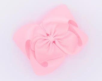 Large Hair Bow - Pink, Boutique Hair Bow, Baby Hair Bow, Toddler Hair Bow, Big Girl Hair Bow, READY TO SHIP