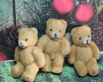 1 Vintage Miniature Teddy Bear