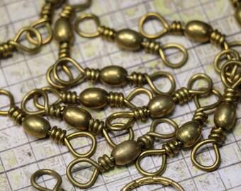 2 Vintage Brass Swivel