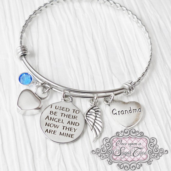 Cremation jewelry urn cremation bracelet loss of grandma for Father daughter cremation jewelry