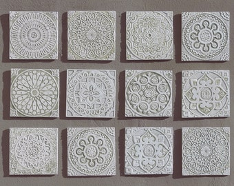 12 tiles outdoor wall art garden decor wall tiles with various designs garden art - Decorative Wall Tiles
