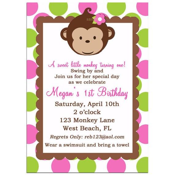 Dashing image pertaining to free printable monkey baby shower invitations