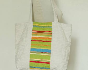 Day Out Carryall Tote Woman Beach Party Water-repellent Summer Tote Large Green Shopper Grocery Bag