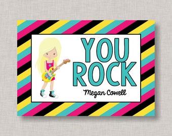 Rock Star Valentine Card, Classroom Valentines, Classroom Valentine's Day Card, Kids Valentine Cards, Kids Valentines, Guitar Valentine