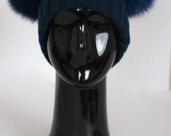 Double pom / ear hat