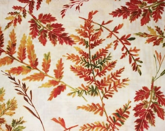 Fall Fabric, By The Yard, FabriQuilt, Autumn In The Forest, Fall Autumn Leaves, Autumn Fabric, Quilting Fabric, Sewing Crafting Fabric