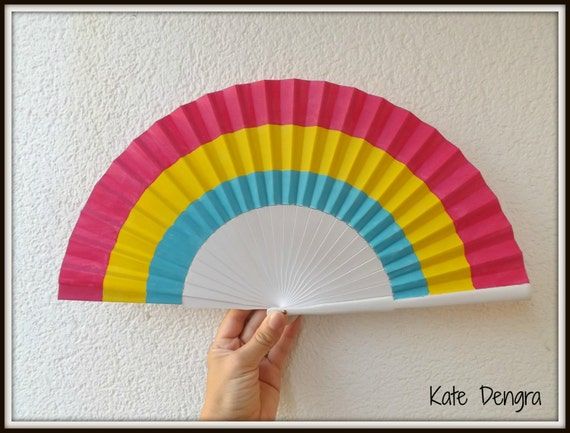 Pansexual Pride Flag Hand Fan