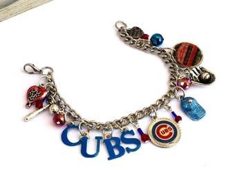 Chicago Cubs Baseball Bracelet