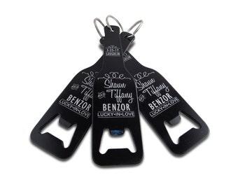 personalized bottle shaped bottle opener key chain engraved. Black Bedroom Furniture Sets. Home Design Ideas