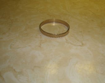 vintage bracelet bangle goldtone brushed shiny