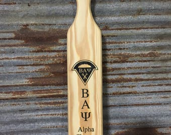 Custom engraved fraternity paddle greek jpeg sorority big sis big brother pledge paddle