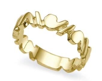 Plain 14K Yellow Gold Wedding Ring , Solid Yellow Gold Size 5.5 Plain Band Sizeable Bridal Jewelry