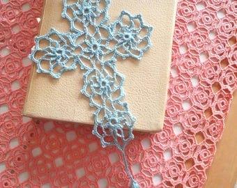 Crochet Cross Bookmark - Cotton Thread - Ready to Ship