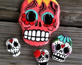 Sugar Skull Handmade Cabs grab bag supply grouping