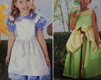 PRINCESS DRESS Pattern • Simplicity 0803 • Girls 3-8 • Alice Dress • Mad Hatter • White Rabbit Outfit • Costume Patterns • WhiletheCatNaps