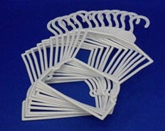"""6 dozen  (72) outfit hangers.  Doll clothes """"Outfit Hangers"""" for 18"""" doll clothes"""