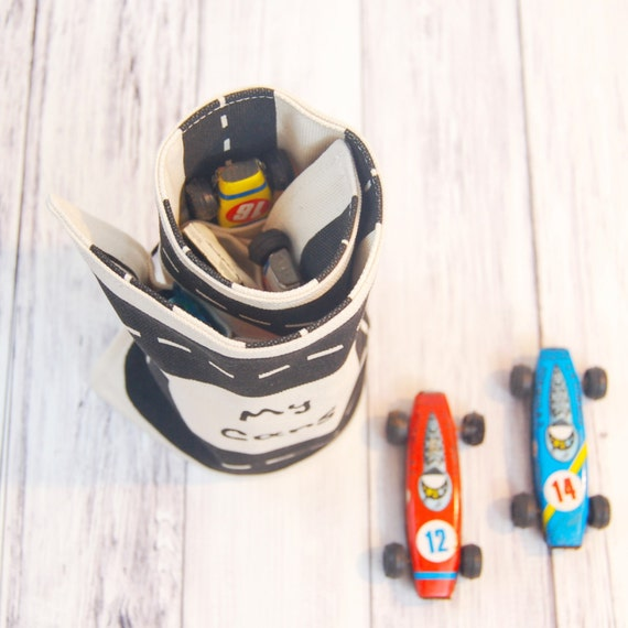 Organic TOY CAR ROLL hot wheels cars toy car storage kids gifts stocking stuffer kids toys gifts for boys travel toys gifts under 25
