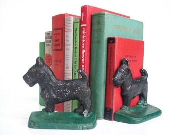 Vintage Metal Scotty Dog Bookends
