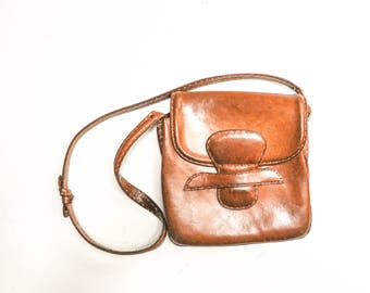 Vintage Leather Cross-Body Purse or Bag