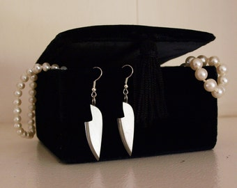 Bare Metal Chef Knife Earrings
