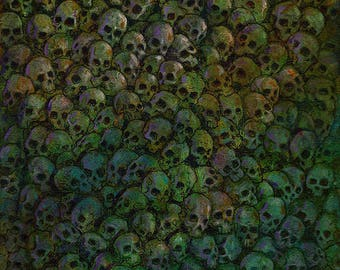 Terms - Original Wall of Skulls Series Painting