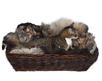 Cruelty Free, Lincoln Cross, Cat Bed, Dog Bed, Humane Sheepskin, Fleece Felted, Wool Rug, Ready to Ship, Primitive Decor, Cat Lover Gift