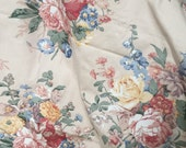 "Vintage Ralph Lauren 1997 upholstery fabric 64"" wide 4 yds huge bouquets RL fabulous huge bouquets cabbage roses"
