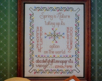50%OFF CJ Novak SPRING Is Nature By Samplers Plus - Counted Cross Stitch Pattern Chart